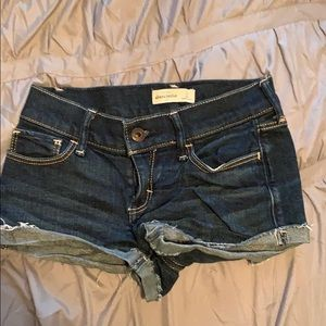 Abercrombie Kids dark denim shorts